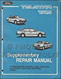 1985 Ford Telstar and TX5 Repair Shop Manual Original Supplement - Fuel Injection and diesel