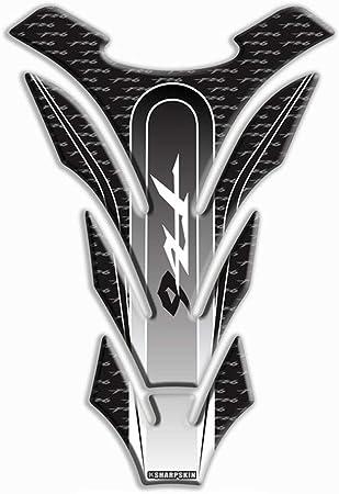 Psler Motorrad 3d Tankpad Aufkleber Für Yamaha Fz6 Schwarz Auto