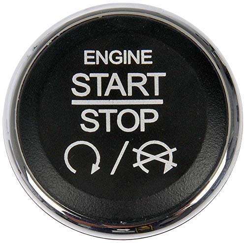 APDTY 117375 Dashboard Mounted Engine Ignition Start Stop Button Switch Fits Select Chrysler 300 Town & Country Dodge Challenger Durango Grand Caravan Commander Grand Cherokee Ram C/V Conversion Van ()