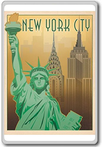 New York City USA - Vintage Travel Fridge Magnet (Fridge Magnets Usa Cities compare prices)