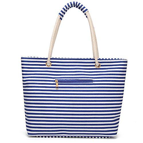 Canvas Women Travel Bags Ladies Blue Girls Bag Purse Work Shoulder Tote for Bag qqHaSZ