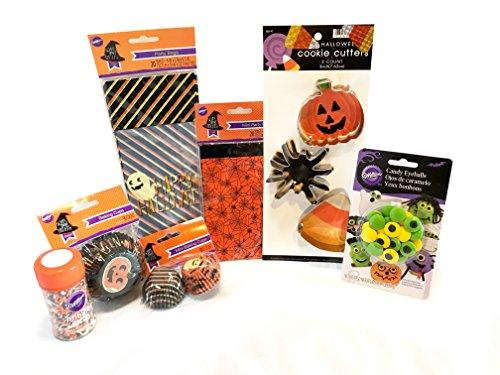 Halloween Baking and Treat Kits! Halloween Cupcake Mix, Halloween Cookie Cutters, Halloween Treat Bags - Halloween Party Supplies! (Cupcake & Cookie Decorating - Wilton Halloween (Halloween Themed Cake Pops)