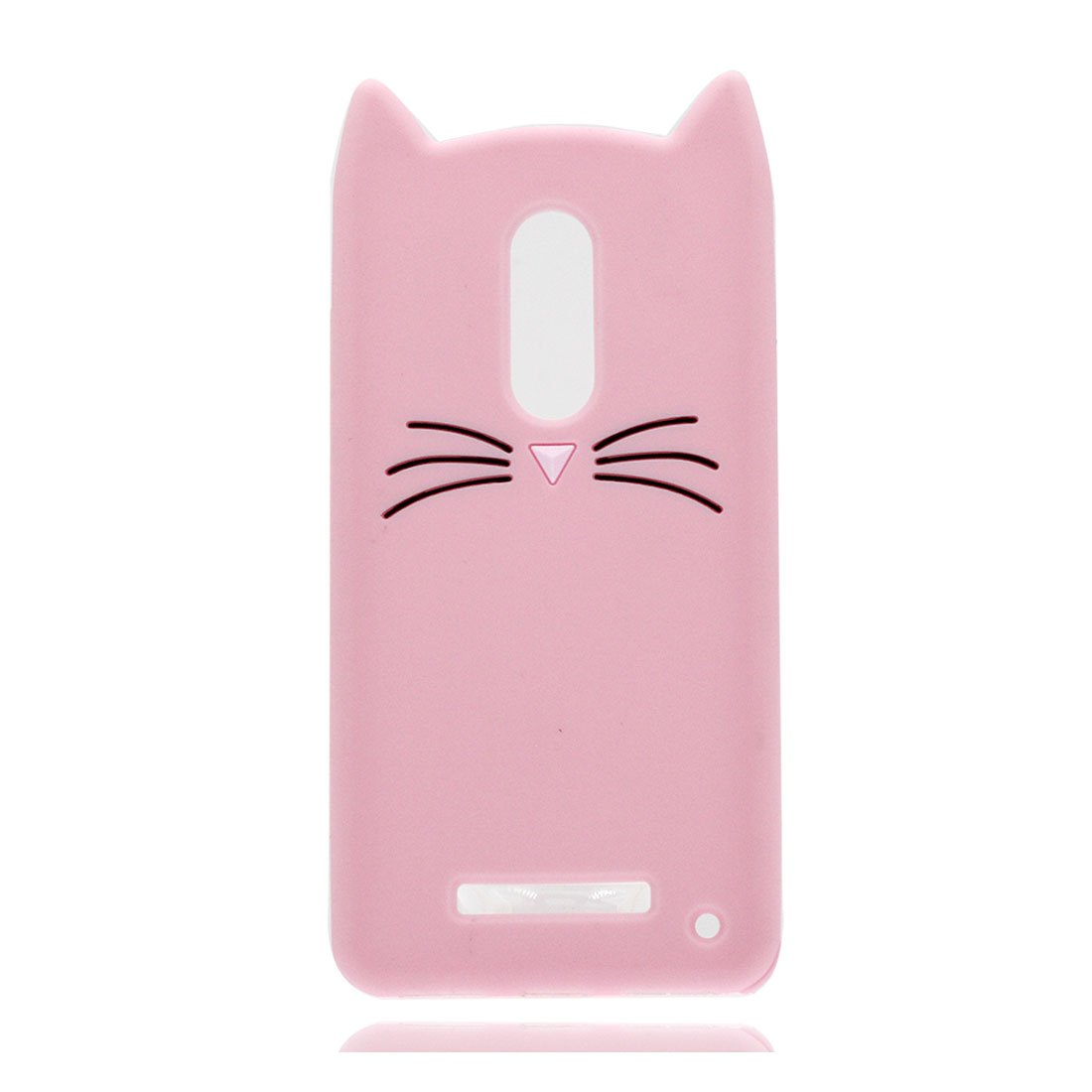Redmi Note 3/Note 4/ Note 4X Carcasa, Slim-Fit Anti-Scratch a prueba de golpes Funda de silicona suave con 3D Cartoon Lindo Cat Gato funda para Redmi Note 3/Note 4/ Note 4X (rosado) UJVU