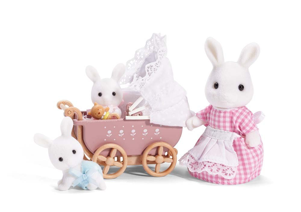 Calico Critters Carriage Stroller Play Set Rabbit Twin