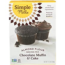 Simple Mills Almond Flour Baking Mix, Gluten Free Chocolate Cake Mix, Muffin pan ready, Made with whole foods, (Packaging May Vary), 11.2 Ounce (Pack of 1)