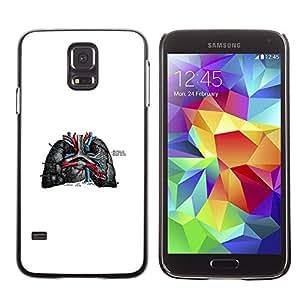 EJOY---Cubierta de la caja de protección la piel dura para el ** Samsung Galaxy S5 ** --Las venas del corazón