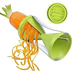 Phifo Vegetable Spiral Slicer , Perfect Veggie Spaghetti/Pasta Maker (Green)
