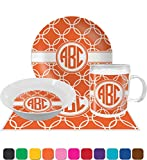 Linked Circles Dinner Set - 4 Pc (Personalized)
