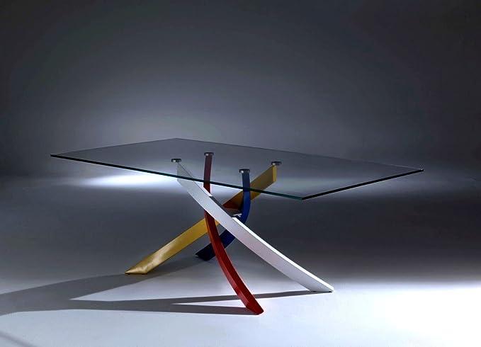 Bontempi tavolo fisso artistico cm in cristallo o legno