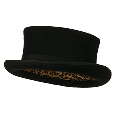 04d6b21f016 Men s Top Hat Wool Felt Hat - Black at Amazon Men s Clothing store