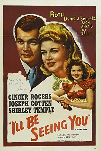 Amazon.com: I'll Be Seeing You POSTER Movie (11 x 17 Inches - 28cm x 44cm) ( 1944): Posters & Prints