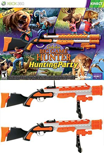Xbox Light Gun (Cabela's Big Game Hunter: Hunting Party 2 x GUN BUNDLE XBOX 360 Video Game)