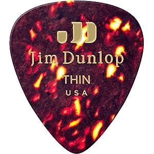 Jim Dunlop 483P05TH Shell Gitarren-Plektrum, klassisch, 12 Stück