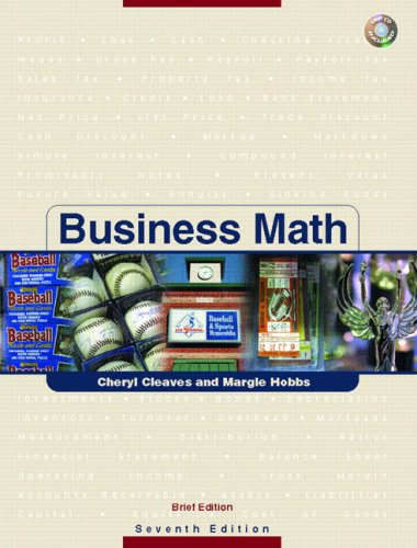 Business Math, Brief w/CD & Study Guide & Tutor Center Access Card Pkg. (7th Edition)