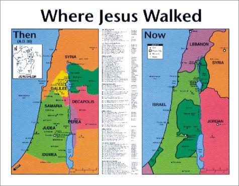 Where Jesus Walked Laminated Wall Map