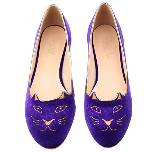 Eithy (Purple And Pink Kitty Shoes)