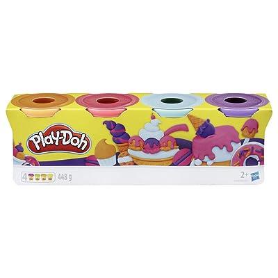 Play-Doh-Pack 4 Colores Dulces, (Hasbro E4869ES0): Juguetes y juegos