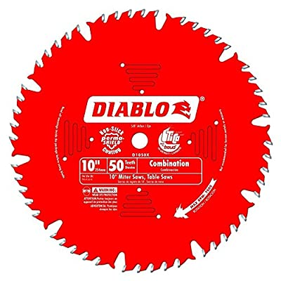 Freud D1050X Diablo 10-Inch 50-tooth ATB Combination Saw Blade with 5/8-Inch Arbor and PermaShield Coating from Diablo