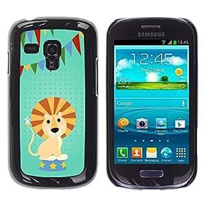 A-type Arte & diseño plástico duro Fundas Cover Cubre Hard Case Cover para Samsung Galaxy S3 MINI i8190 (NOT S3) (Gracioso - partido de la historieta León)