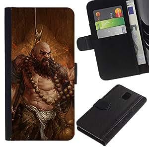 All Phone Most Case / Oferta Especial Cáscara Funda de cuero Monedero Cubierta de proteccion Caso / Wallet Case for Samsung Galaxy Note 3 III // BARBARIAN ART