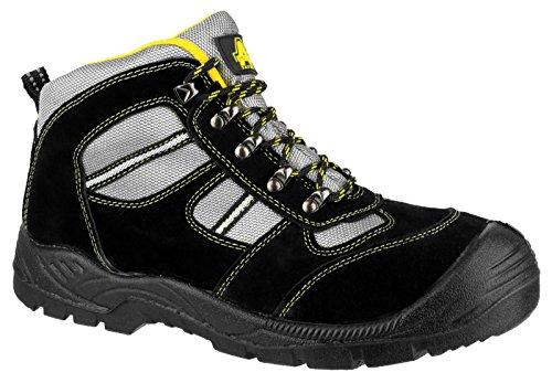 Amblers New Unisex acero para adulto FS110 de seguridad deja al maletero S1-P funda de piel sintética zapatos de encaje-up