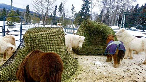 Tech Equestrian KNOTLESS Heavy Duty 5mm Thick Round Bale Slow Feed Hay Net 6x6 (Hole_Size_1.5 inches) by Tech Equestrian (Image #3)