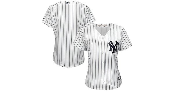 New York Yankees MLB Majestic para mujer Cool Base Jersey blanco Plus tamaños