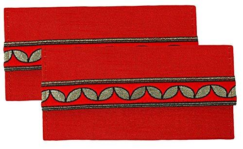Encierro magnético del dinero del encierro del regalo del dinero 2 pedazos de los accesorios de la boda del sobre de Shagun Rojo
