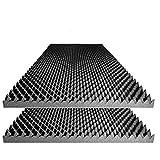 "Acoustic Foam Egg Crate Panel Studio Soundproofing Foam Wall Panel 48"" X 24"" X 2.5"" (2 Pack)"