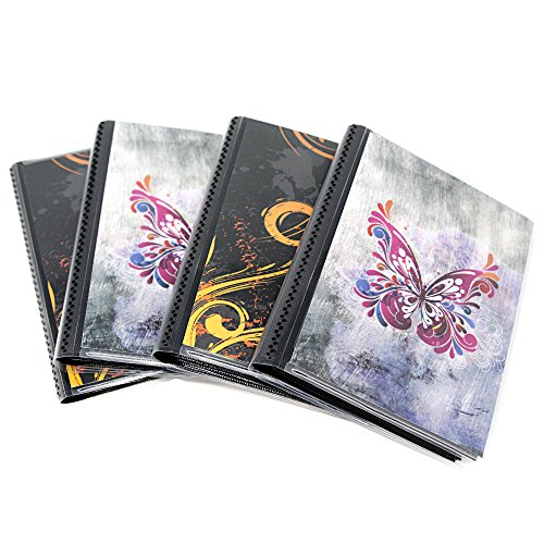 4 x 6 Photo Albums Pack of 4, Each Mini Photo Album Holds Up to 48 4x6 Photos with Black Background Pockets. Flexible, removable covers come in random, assorted patterns and colors. ()