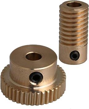 12x21x5mm 0.5 Modulus 40 Teeth Brass Worm Gear Wheel for Gear Box Shaft Driving
