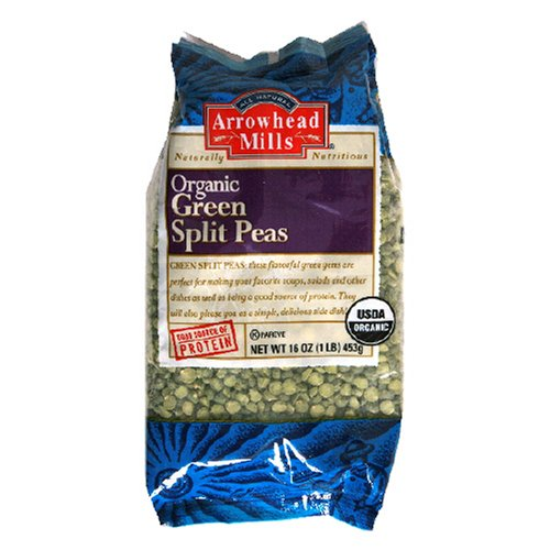 organic green split peas - 1