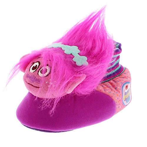Trolls Kids Sock Top Slippers - 9/10 M US Toddler