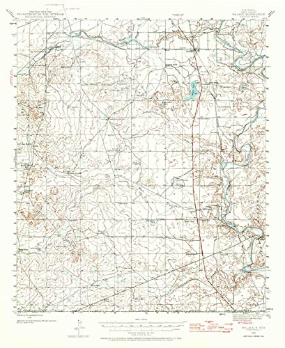 YellowMaps Malaga NM topo map, 1:62500 Scale, 15 X 15 Minute, Historical, 1945, Updated 1970, 20.9 x 17.1 in - Tyvek