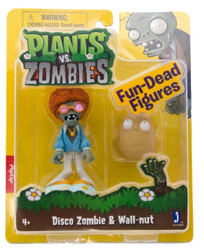 Plants vs Zombies Figures 3'' Disco Zombie with Walnut
