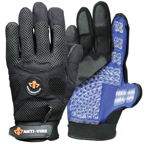 Anti Vibration Air Glove - Impacto BG40820 Anti-Vibration Mechanic's Air Glove, Black