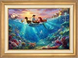 Thomas Kinkade -The Little Mermaid Falling in Love 24'' x 36'' Standard Number (S/N) Limited Edition Canvas (Antique Gold Frame)