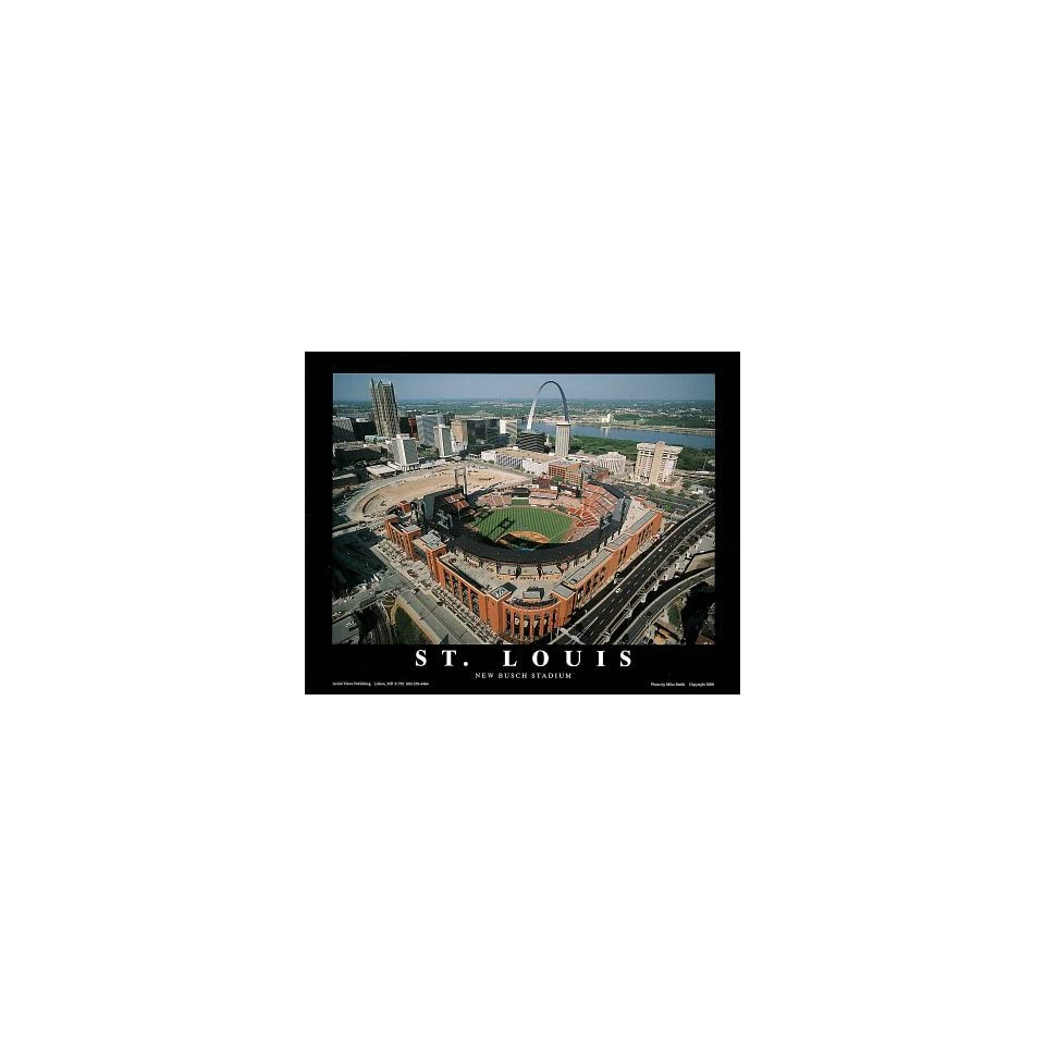 Busch Stadium Art Print by Mike Smith 28 x 22in with Poster Hanger