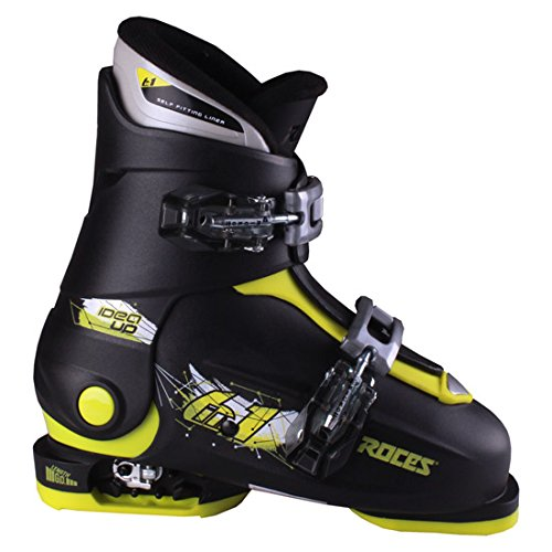 Roces 2018 Idea Adjustable Black/Lime Kid's Ski Boots 19.0-22.0 by Roces