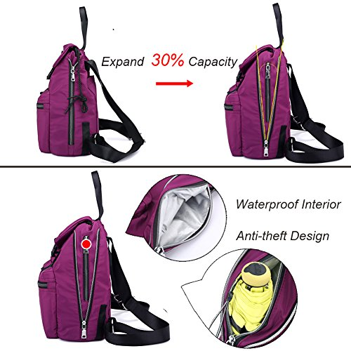 Casual Women Bag Travel Top Handle Drawstring Shoulder Backpack Blue Rucksack Waterproof qaO771