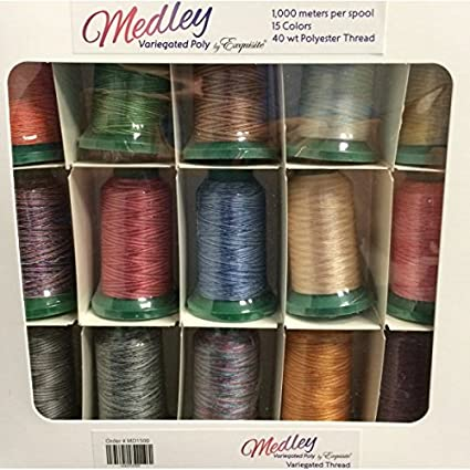 Amazon Exquisite Medley Variegated Embroidery Thread Set Arts