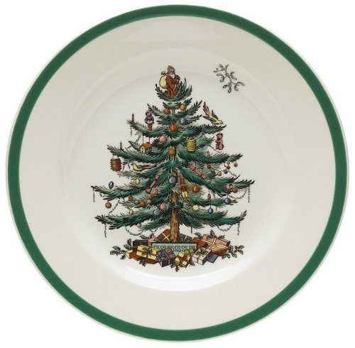 Spode Christmas Tree Salad Plates, Set of 4 by Spode