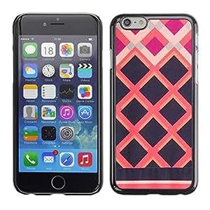 Apple Iphone 6 Plus 5.5 , JackGot - Impreso colorido protector duro espalda Funda piel de Shell (Negro rosado cuadrado Valla)