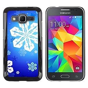 MOBMART Carcasa Funda Case Cover Armor Shell PARA Samsung Galaxy Core Prime - Radiance Of Blue Stars