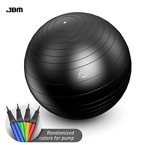 JBM Exercise Yoga Ball with Free Air Pump (3 Sizes, 5 Colors)...