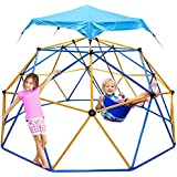 Jugader Dome Climber with Swing and Hammock, 10FT Climbing Dome for Kids 3 to 10 - Rust & UV Resistant Steel, Supporting 800L