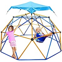 Jugader Dome Climber with Swing and Hammock, 10FT Climbing Dome for Kids 3 to 10 - Rust & UV Resistant Steel, Supporting…