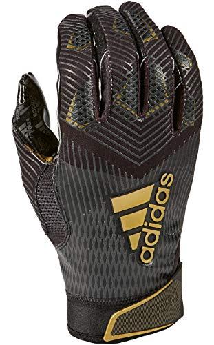 adidas Adizero 8.0 Football Receiver's Gloves Black Large (Football Black Gloves)