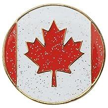 Navika Canada Flag Glitzy Ball Marker with Hat Clip