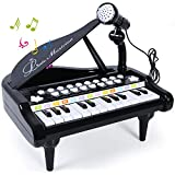 ANTAPRCIS Piano Toy Keyboard 24 Keys Musical Instrument Toys for Childhood Learning and Development with Microphone Birthday Gift Toys for Baby Toddlers